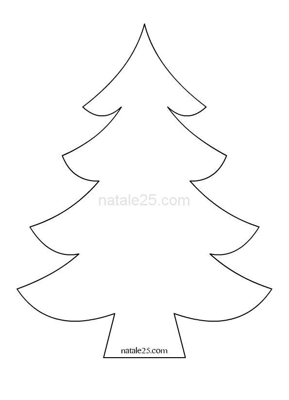 Sagoma Albero Di Natale Natale 25